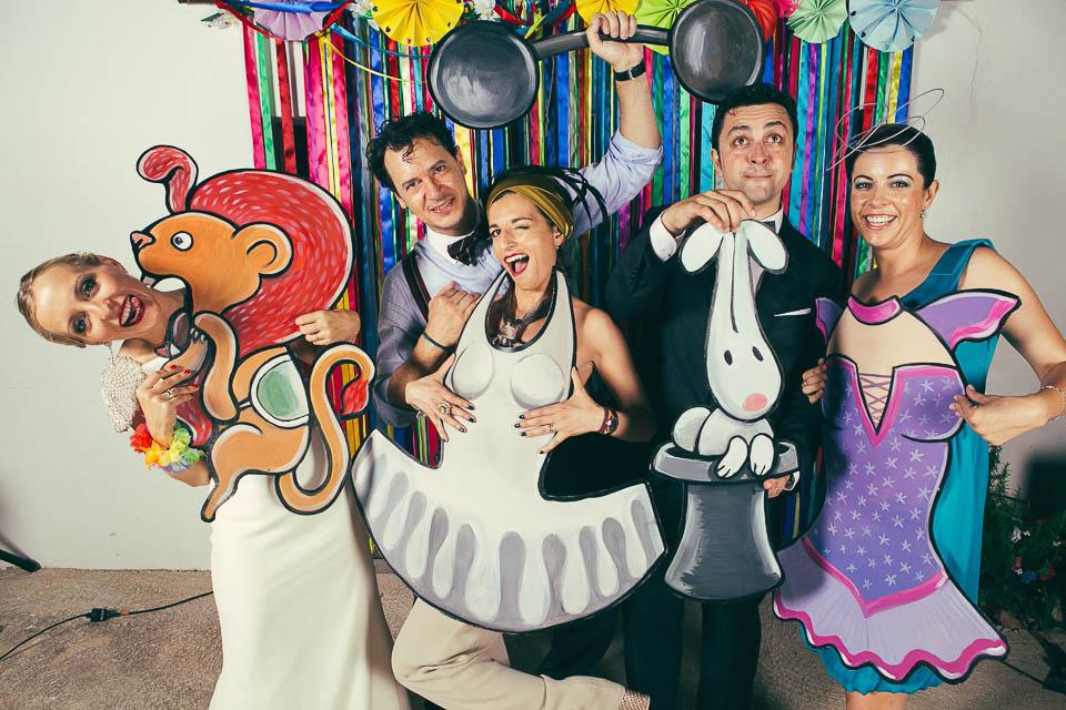 Photocall de circo para bodas for Decoracion de photocall